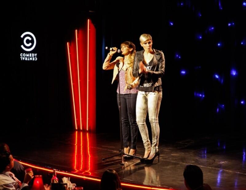 Las integrantes del dueto Ha-Ash también se unieron a esta celebración por la comedia, apoyada por MTV.