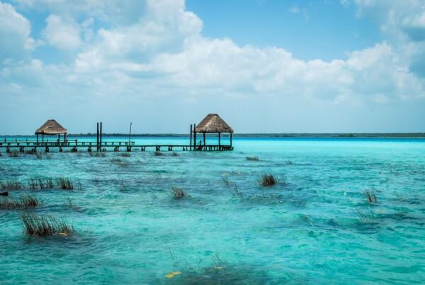 Bacalar lagoon in Mexico, Quintana Roo