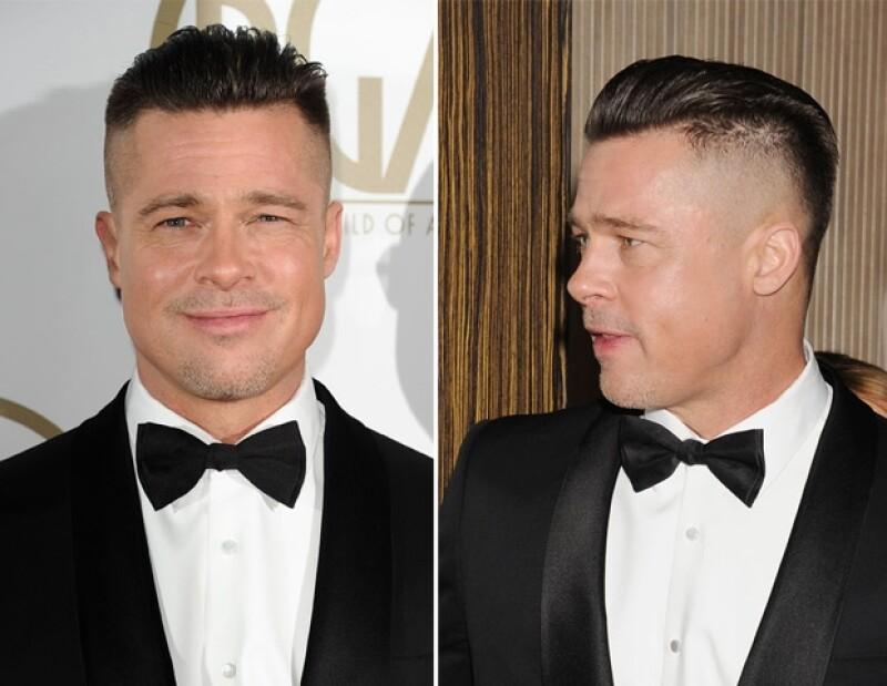 El actor se presentó ayer en los premios del Sindicato de Productores donde presumió su nuevo corte de pelo, semi rapado, además de haberse afeitado.