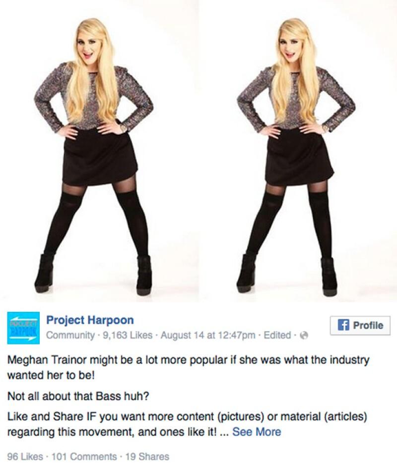 Project Harpoon es el nombre de la cuenta que en redes sociales ha causado enojo y críticas, pues publican imágenes de mujeres con sobrepeso, pero modificadas con Photoshop.
