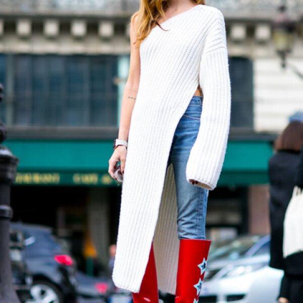 Los knitwears asimétricos le darán un toque edgy a tu look.