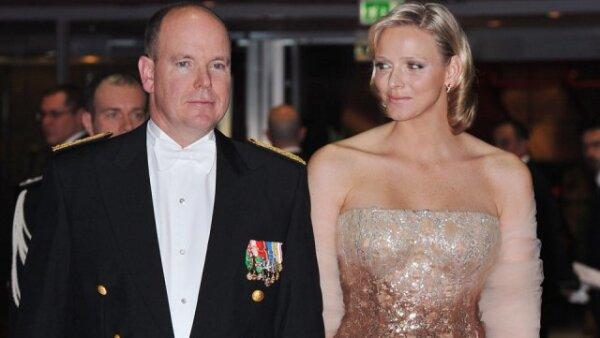 Alberto de Mónaco y Charlene Wittstock en la la ópera de Montecarlo con motivo de la celebración del Día Nacional de Mónaco.