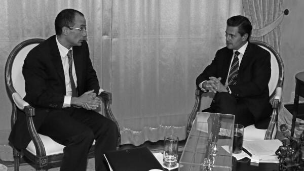 Marcelo Odebrecht (izq) y Enrique Peña Nieto (der)