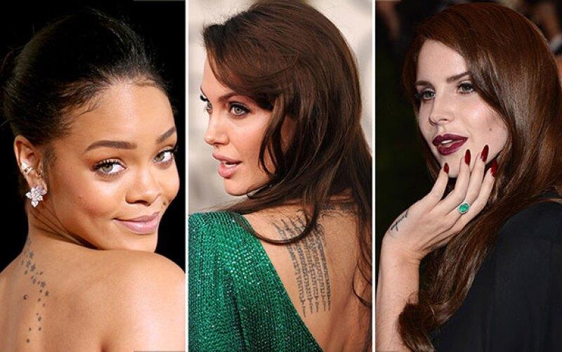 Estas celebs nos han sorprendido con sus tatuajes.