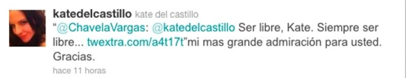 La actriz mexicana aseguró sentir una gran admiración por la cantante Chavela Vargas.
