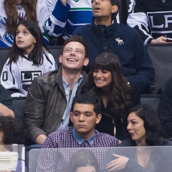 Lea Michele y Cory Monteith.