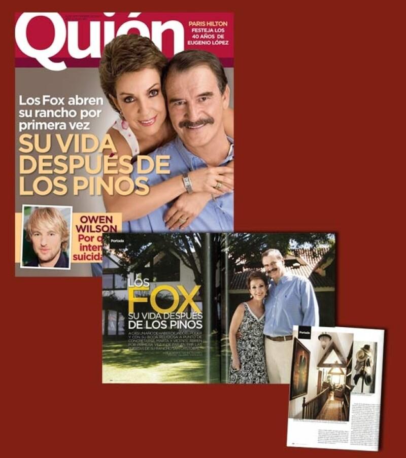 La portada donde aparecere Vicente Fox y Martha Sahagún le valió a la revista Quién una mención especial en la ceremonia del Premio Nacional de Periodismo en 2008.