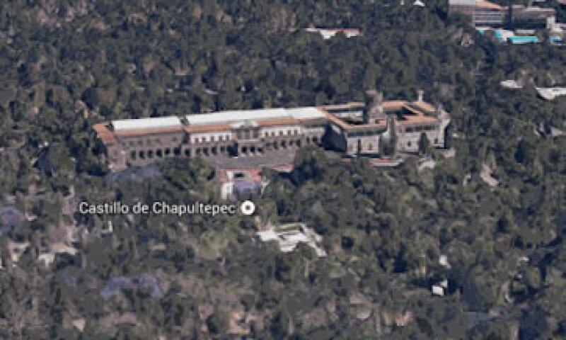 La imagen muestra al Castillo de Chapultepec en 3D en el nuevo servicio de Google. (Foto: Especial)