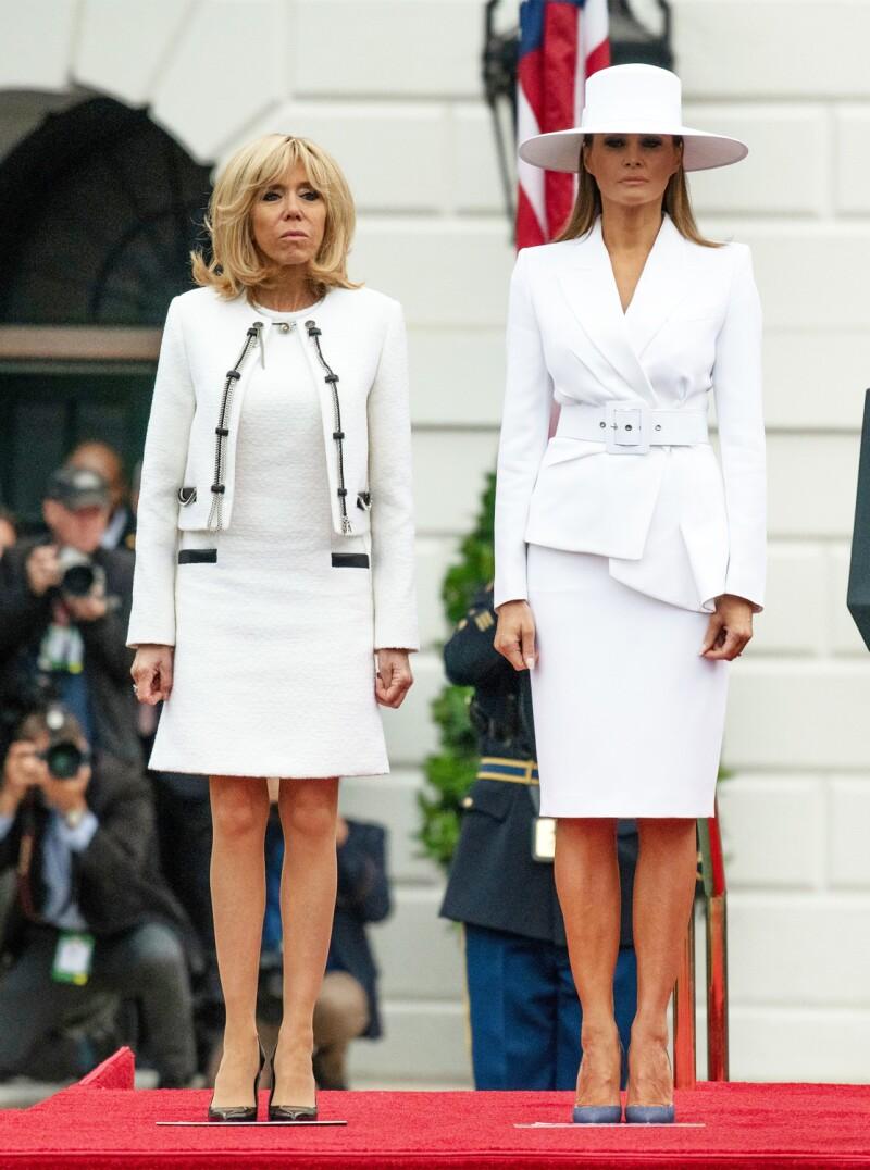 Brigitte Macron y Melania Trump