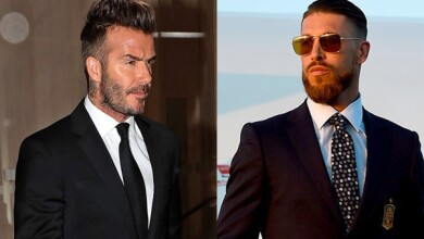 David Beckham y Sergio Ramos