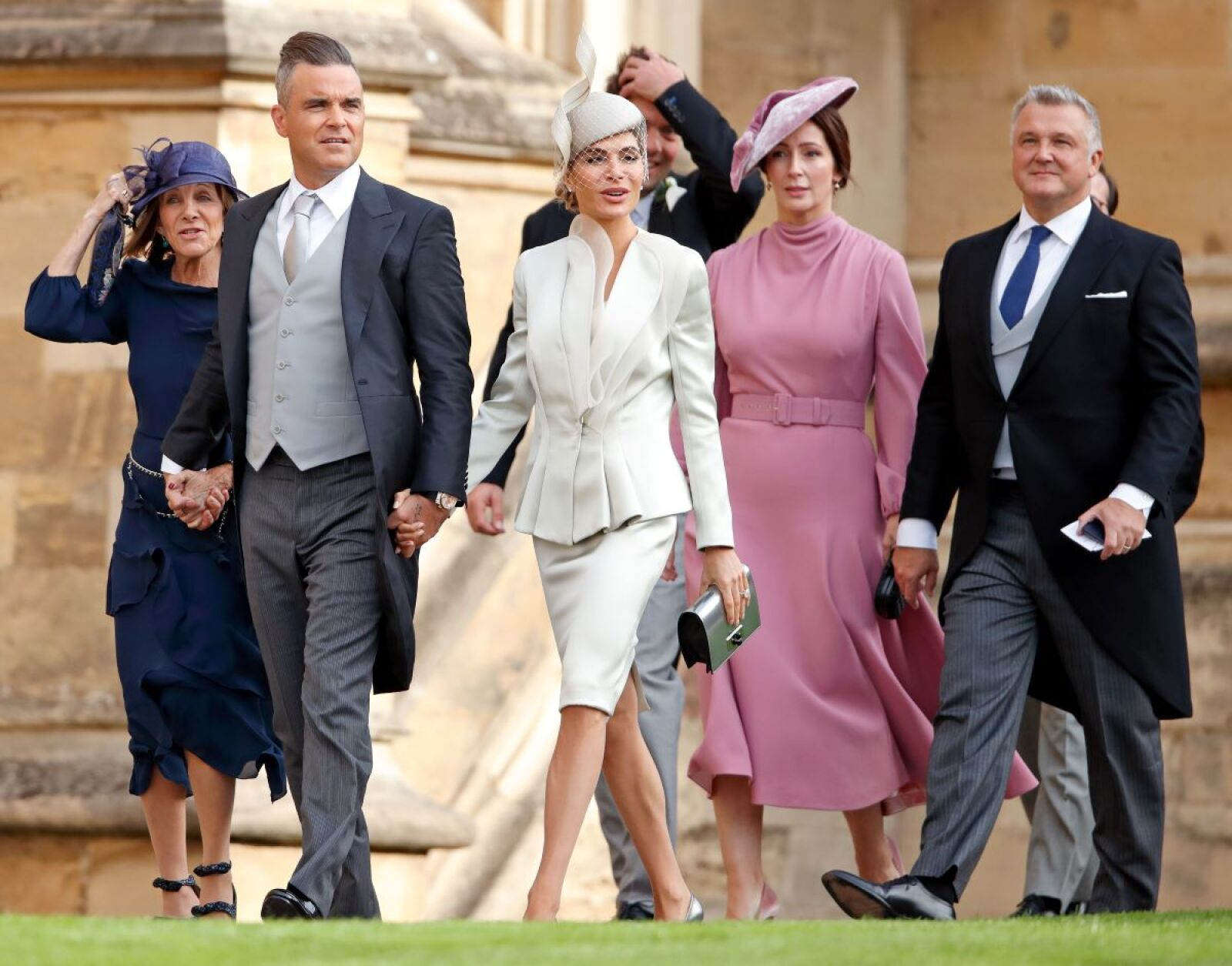 Gwen Field, Robbie Williams, Ayda Field, Zoe de Givenchy and Olivier de Givenchy.jpg
