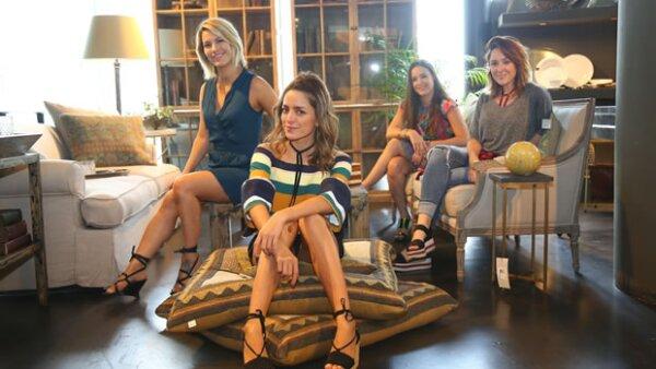 Ari Camacho, Fer Altuzar, Romina Sacre y Tatis Zavala fueron invitadas por The Wed List y Becara Santa Fe para que cada una de ellas plasmara su estilo en algún espacio de la tienda de decoración.