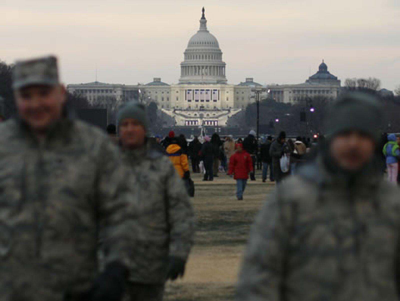 Un operativo de seguridad sin precedentes, calculado en casi 50,000 elementos, fue desplegado en Washington.
