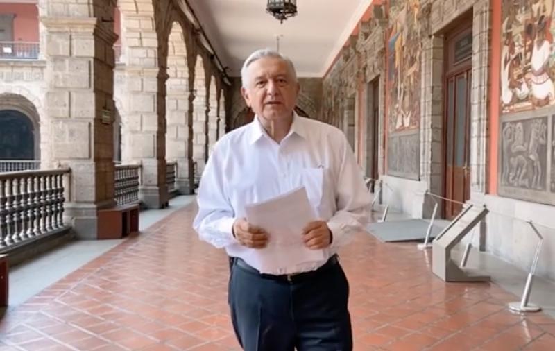 Andrés Manuel López Obrador - mensaje desde Palacio Nacional