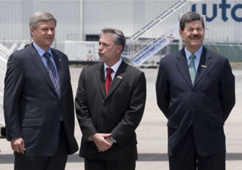 Stephen Harper se reunirá con Felipe Calderón en el Instituto Cabañas. (Foto: Notimex)