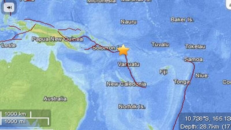 Islas Salomon, pacifico sur, tsunami, sismo, USGS