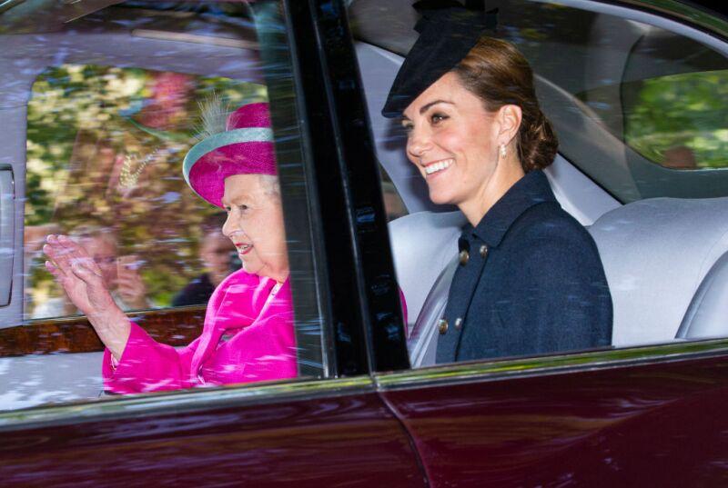 Kate Middleton y la reina Isabel II