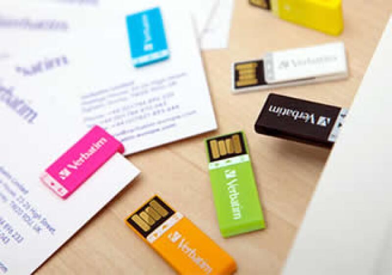 La marca incursiona en nuevos medios de almacenaje de datos, como memorias USB. (Foto: Cortesía Verbatim)