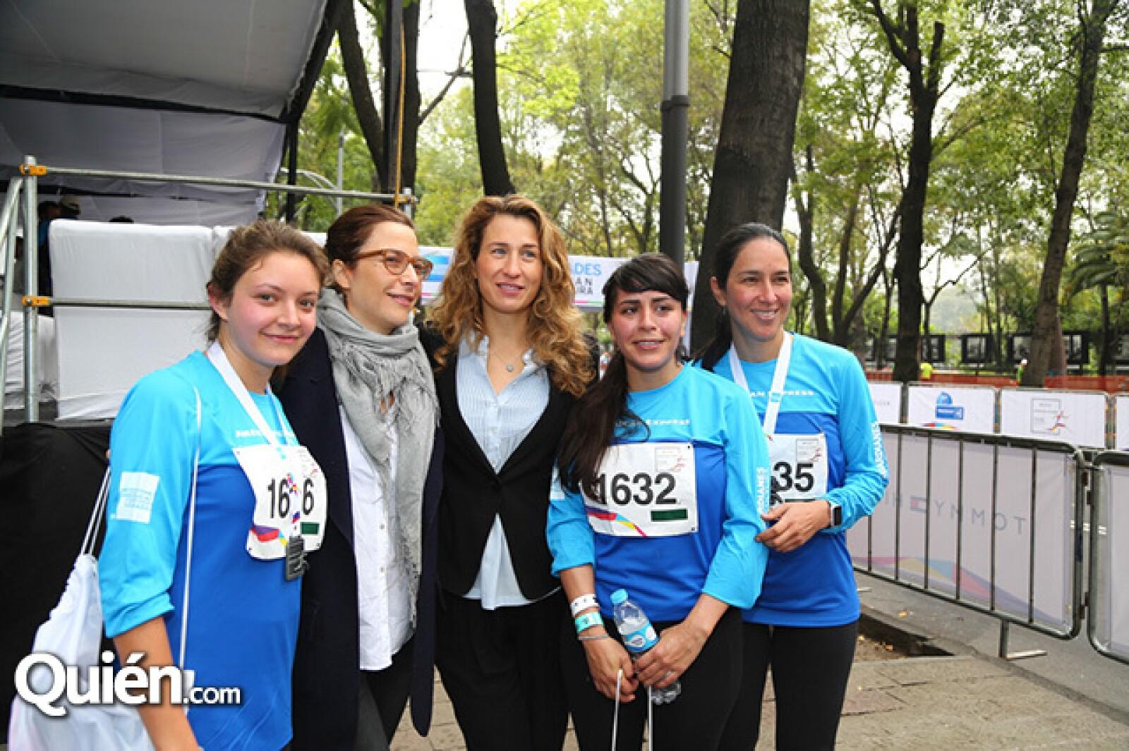 Paulina de la Paz,Amanda Echeverría,Ursula Verea,Ana Paula Pérez y Cynthia Gutiérrez