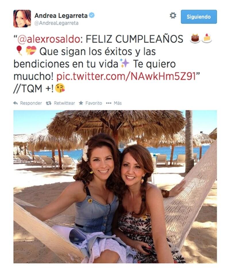 Alessandra Rosaldo, que está a punto de tener un bebé le envió este tuit.