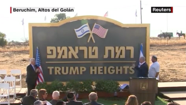 Bienvenidos a 'Trump Heights', una colonia israelí en honor al presidente de EU