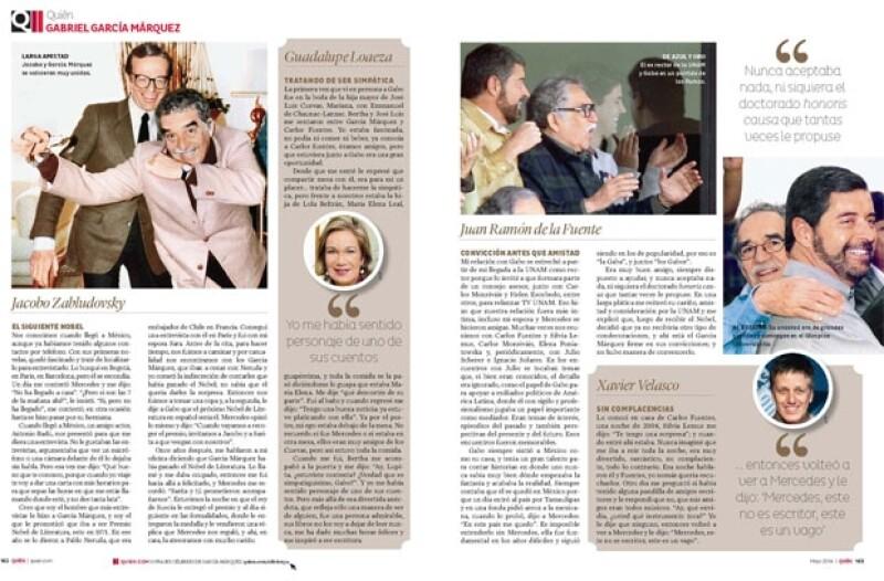 Homenaje a García Márquez, desde la voz de quienes fueron sus amigos en México.