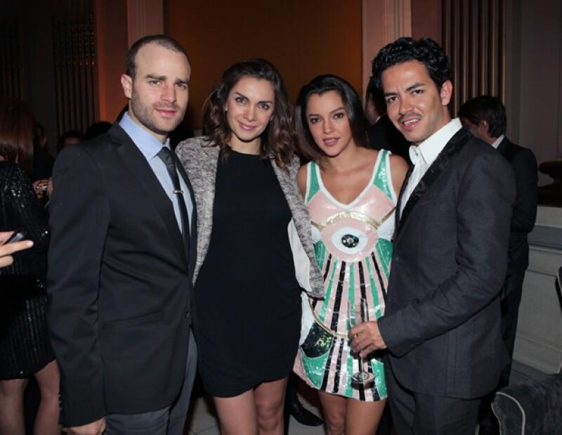La bella modelo y Max en compañía de Sara Maldonado, durante la fiesta del quinto aniversario de la revista InStyle.