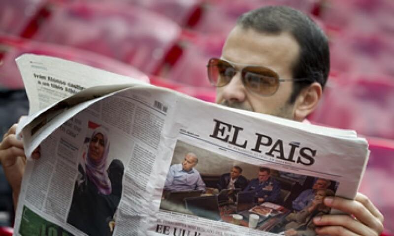 Grupo Prisa, que controla el diario El País, registró un aumento de 4% en sus ingresos de explotación.   (Foto: Archivo)