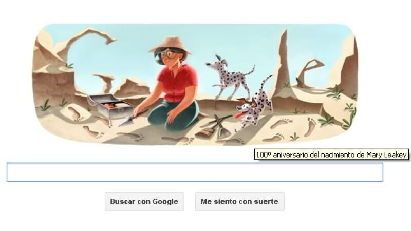 internet, google, doodle, mary leakey, arqueologa, fosil, descubrimiento