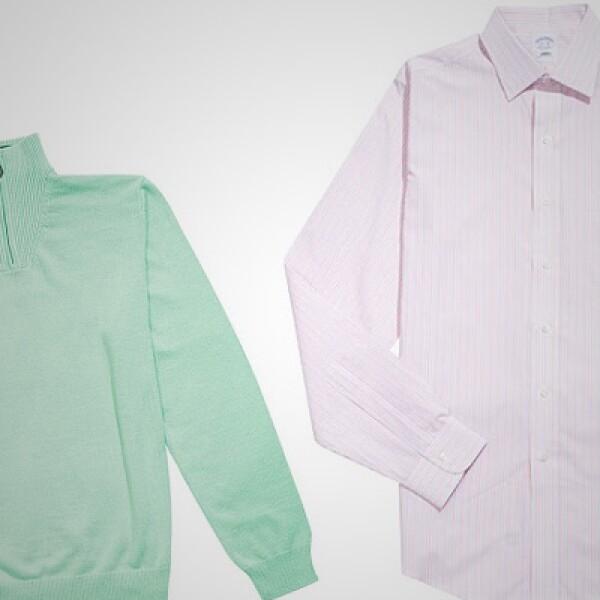 Son dos los estilos de camisa, con tonalidades pastel,  que propone esta firma de EU.