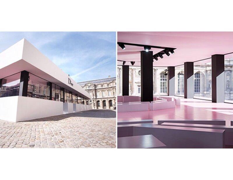 El escenario de Christian Dior en París.