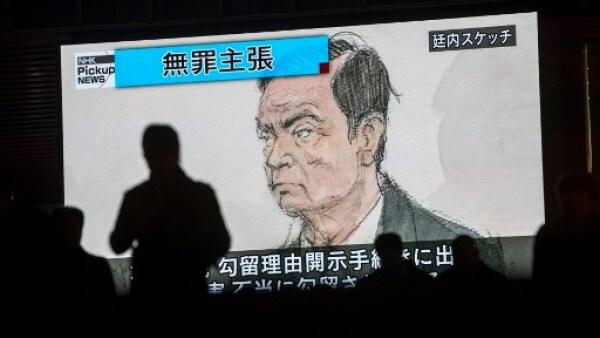 Esquema de la comparecencia de Carlos Ghosn ante la justicia de Japón