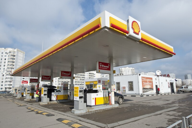 Shell petrol station in Moscow, Russia