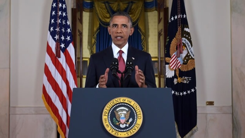 El presidente de Estados Unidos Barack Obama al dirigir un mensaje a la nación en el que presentó el plan para atacar a ISIS