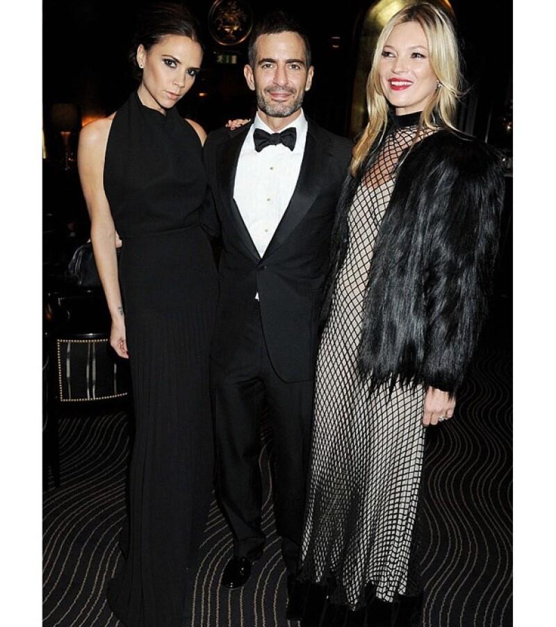 Victoria pasó la noche con dos grandes amigos: Marc Jacobs y Kate Moss