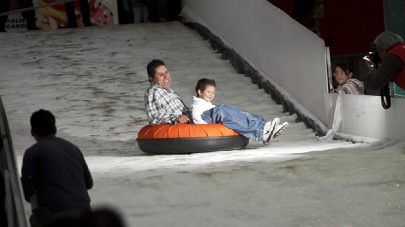 pista de hielo en Cuajimalpa