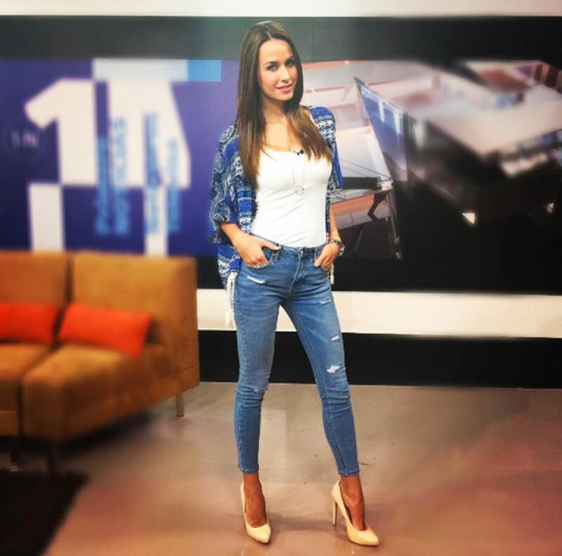 La presentadora de espectáculos presumió en Instagram los avances que ha tenido para recuperar su delgada silueta.