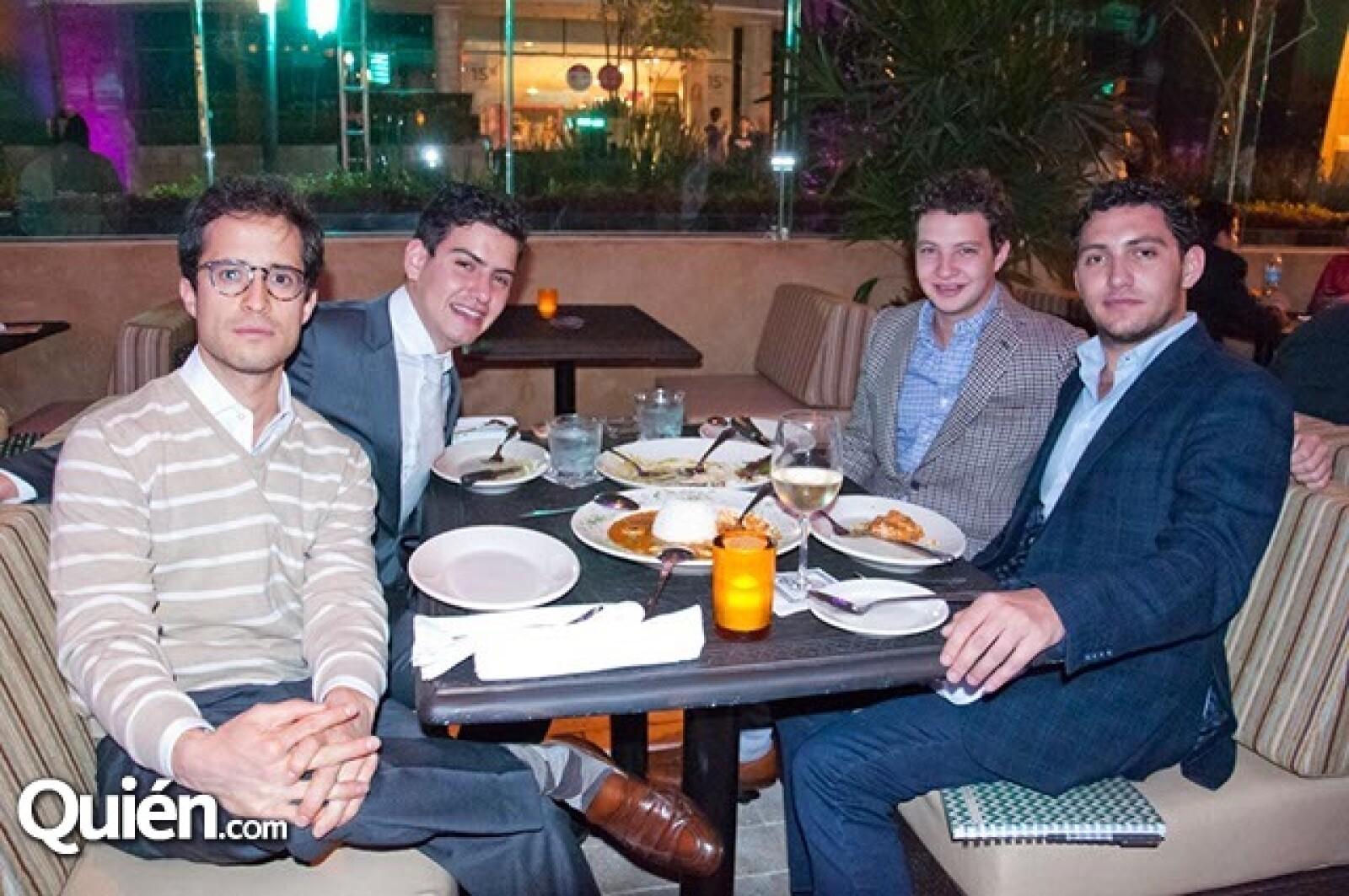 Andrés Valencia, Adrián Tejado, Emili Portugal y Federico Tejado
