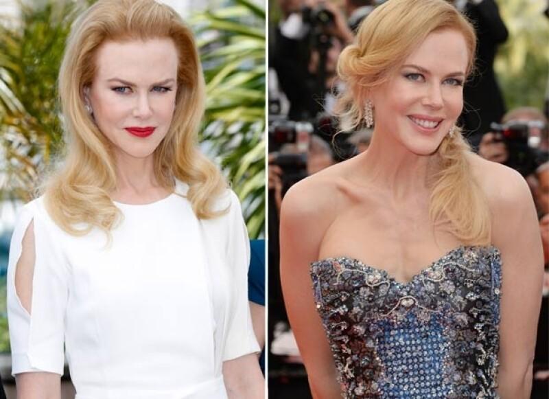 La actriz lució impecable en sus dos apariciones.