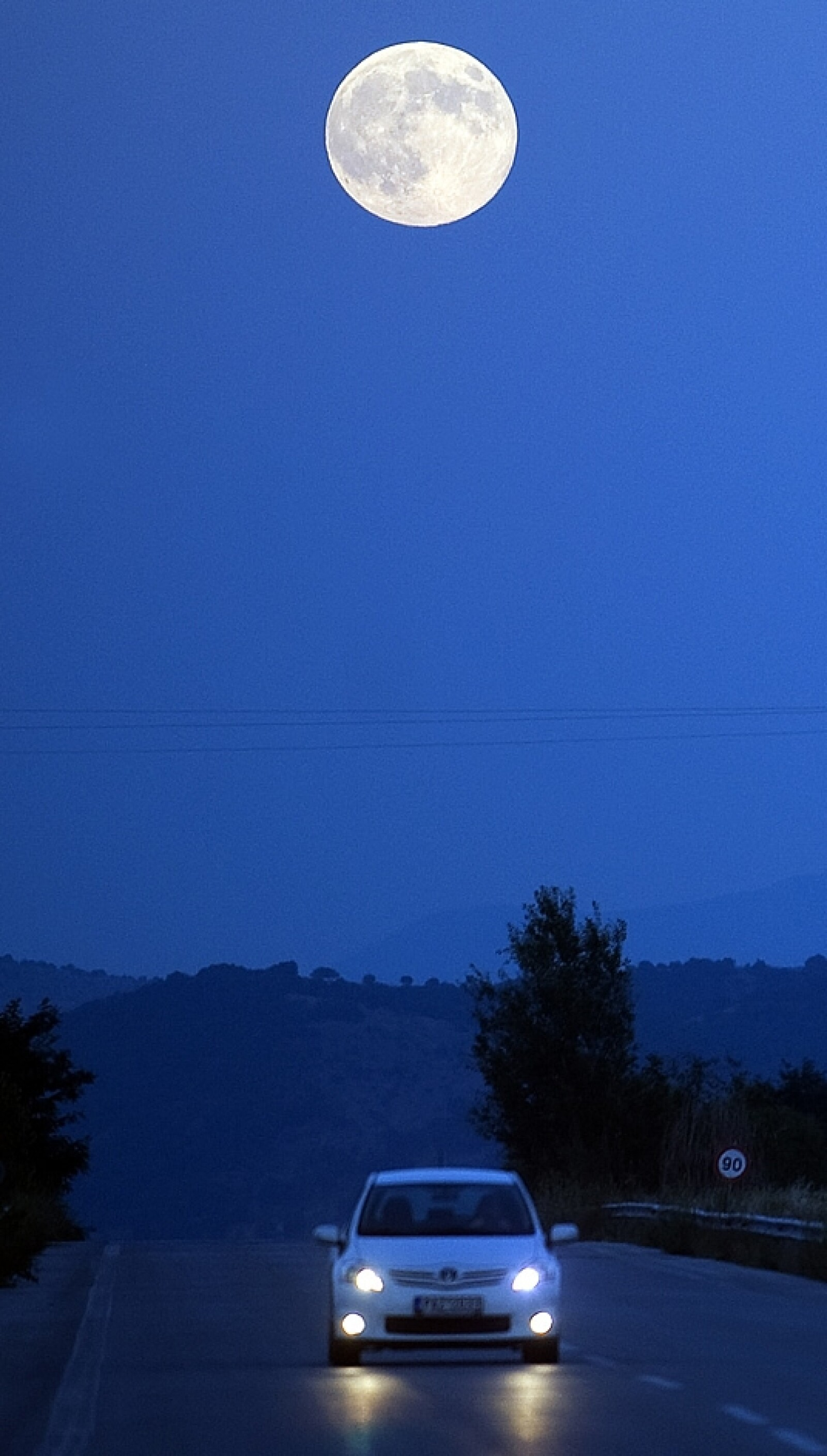 Macedonia camino super luna