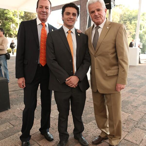 Felix Nuñez, Marco Villalvazo y Javier Martínez