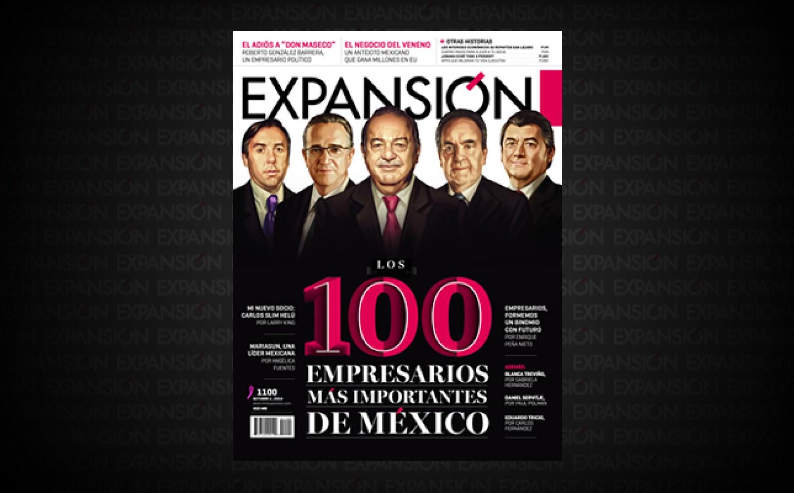 Federico Terrazas presidente de Grupo Cementos de Chihuahua, y Eugenio López, director de Jumex, ingresan por primera vez al listado. Los empresarios han comenzado a concentrarse en salir a explorar nuevos mercados.