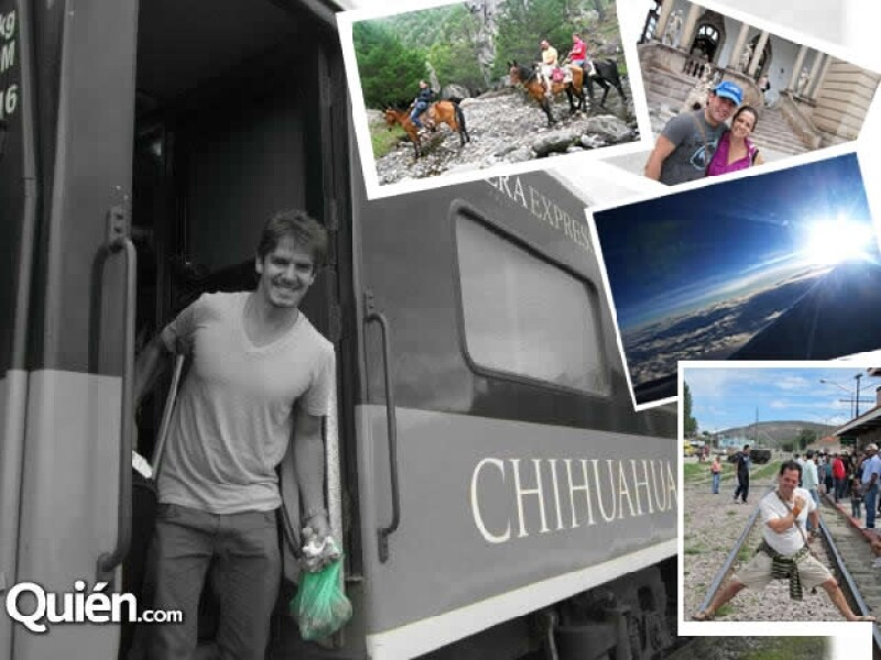 """A bordo del ferrocarril """"Chepe"""" visitaron destinos como los Mochis, El Fuerte y Chihuahua entre otros. Foto: Cortesía Bobby Domínguez)"""