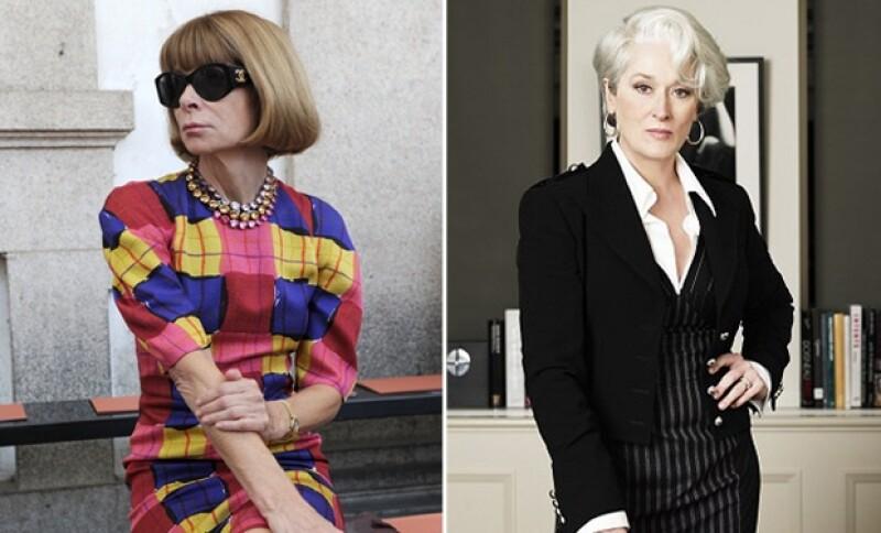 Anna Wintour y Miranda Pristley tienen mucho en común, pero ¿una es el reflejo de la otra?
