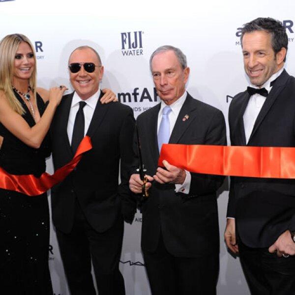 Heidi Klum,Michael Kors, Michael Bloomberg,Kenneth Cole