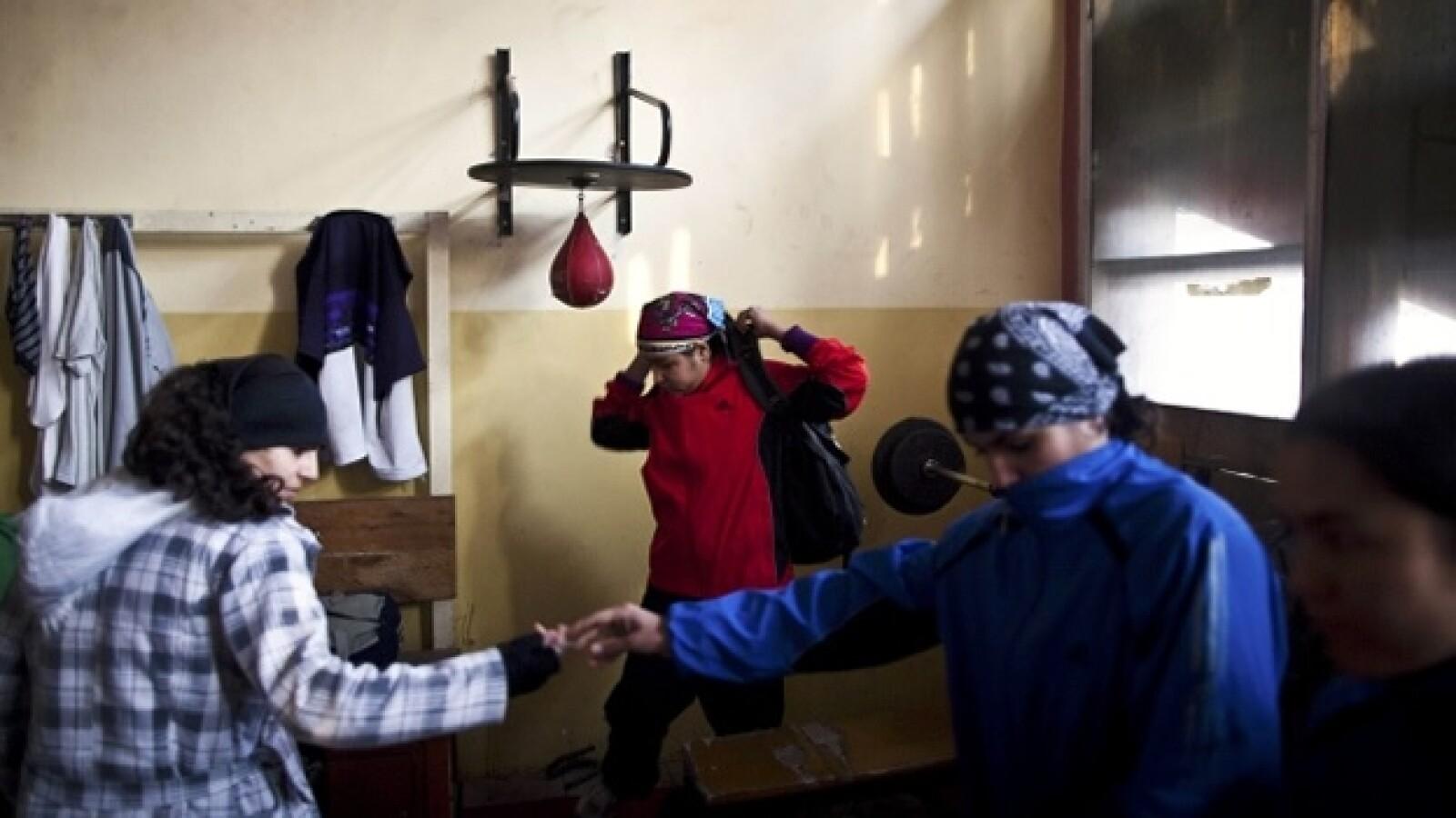 entrentamiento de boxeo