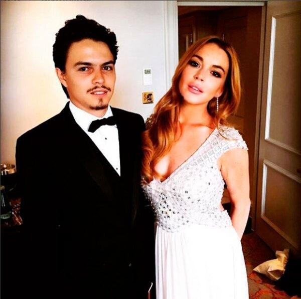 Con esta foto, la pareja agradeció la invitación al evento altruista.