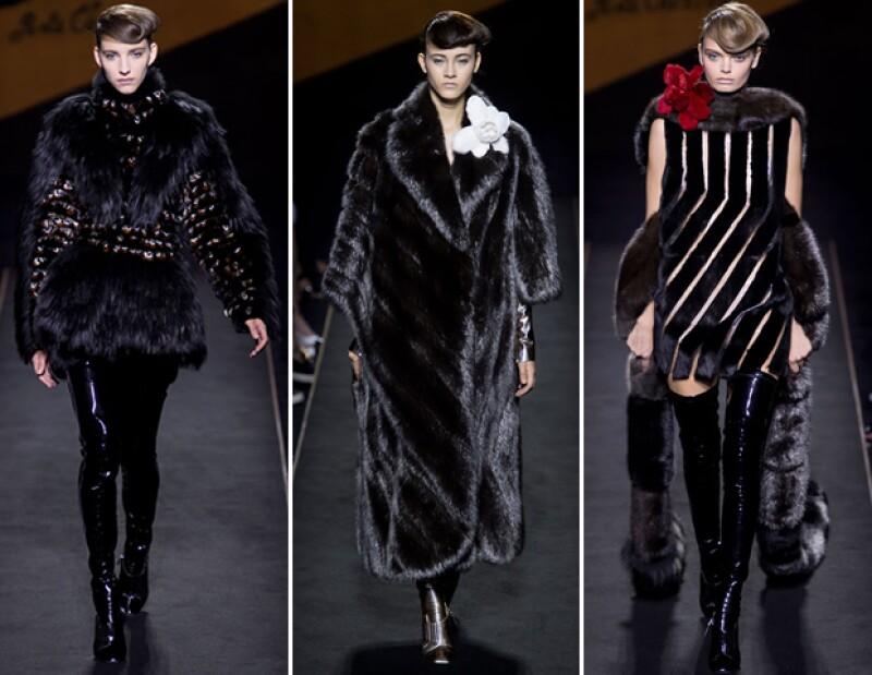 Cuando Karl Lagerfeld llegó a la firma en 1965, acuñó el término Fendi Fun por los divertidos diseños en piel que hizo para la casa. Así nació el logo de la doble F que se imprime en ropa y accesorios.