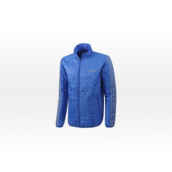 Cortavientos para hombre para el invierno que incluye un cálido acolchado con diseño cuadriculado así como una cremallera y cuello alzado. Bolsillos frontales con cierre.