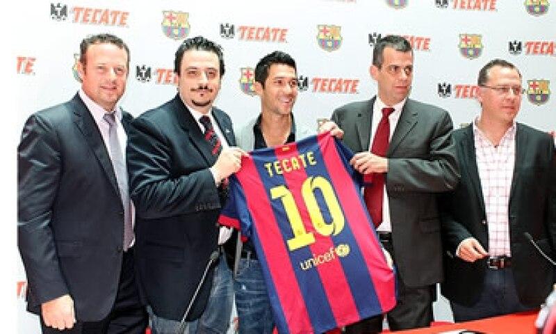El Barcelona podría jugar contra equipos que patrocine Tecate en México.  (Foto: Jessika Méndez)